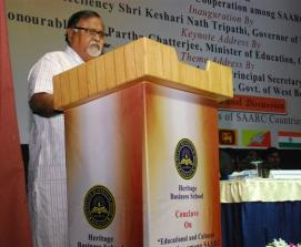 Honourable Minister of Education Shri Partha Chatterjee addressing at the Conclave on February 24, 2015